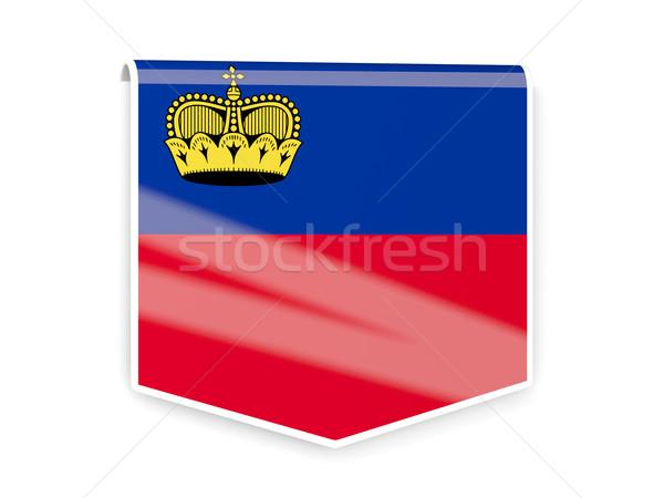 Flag label of liechtenstein Stock photo © MikhailMishchenko