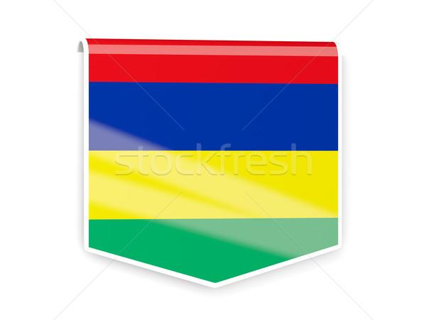 флаг Label Маврикий изолированный белый знак Сток-фото © MikhailMishchenko