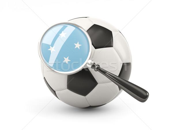 サッカー 拡大された フラグ ミクロネシア 孤立した 白 ストックフォト © MikhailMishchenko