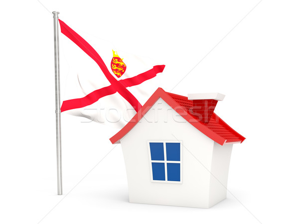 House with flag of jersey Stock photo © MikhailMishchenko
