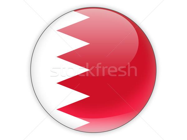 ícone bandeira Bahrein isolado branco viajar Foto stock © MikhailMishchenko