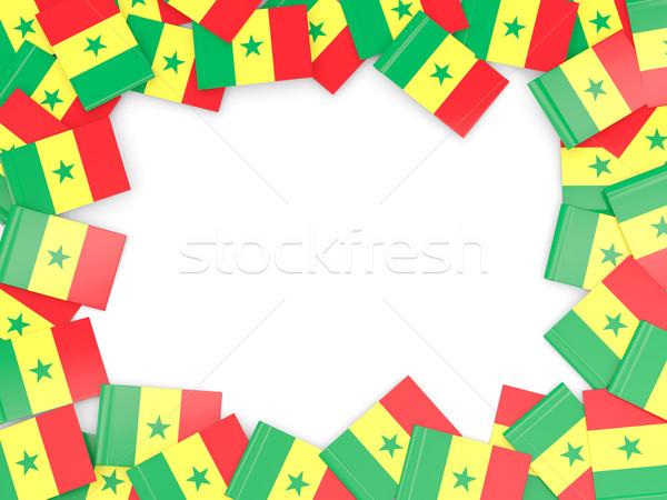 Cadre pavillon Sénégal isolé blanche Photo stock © MikhailMishchenko