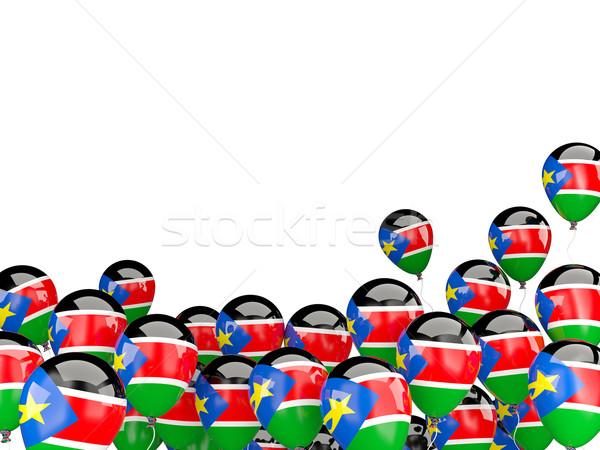 Vliegen ballonnen vlag zuiden Soedan geïsoleerd Stockfoto © MikhailMishchenko