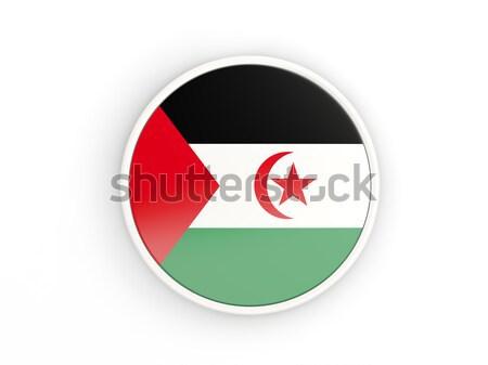 кнопки флаг западной Сахара металл кадр Сток-фото © MikhailMishchenko