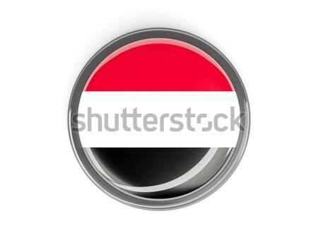 Botão bandeira Iémen metal viajar país Foto stock © MikhailMishchenko