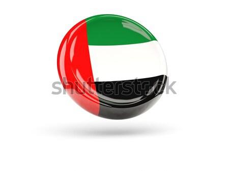 ícone bandeira Emirados Árabes Unidos assinar branco Foto stock © MikhailMishchenko