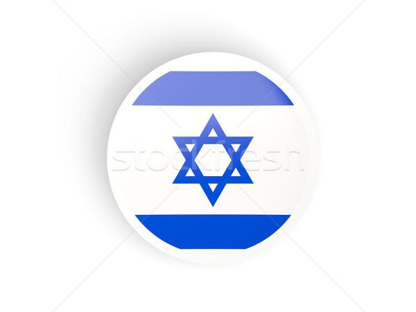 Matrica zászló Izrael izolált fehér utazás Stock fotó © MikhailMishchenko