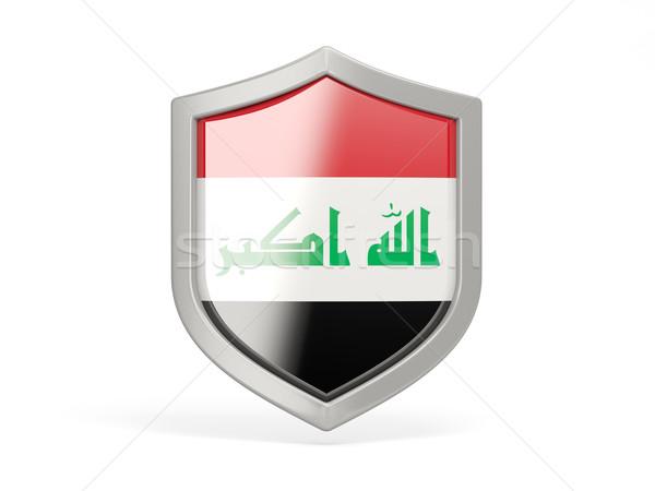 Schild icon vlag Irak geïsoleerd witte Stockfoto © MikhailMishchenko