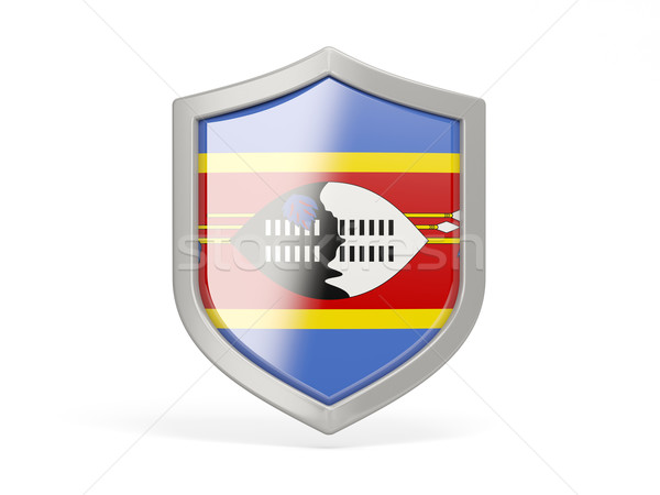 Shield icon with flag of swaziland Stock photo © MikhailMishchenko