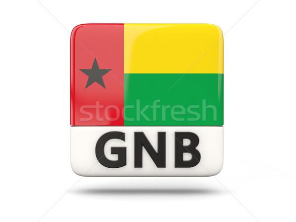 Praça ícone bandeira Guiné iso código Foto stock © MikhailMishchenko