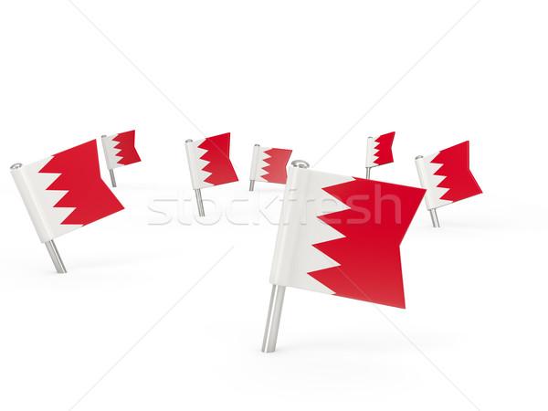 Praça bandeira Bahrein isolado branco país Foto stock © MikhailMishchenko