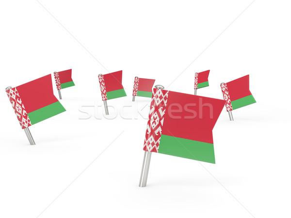 Kare bayrak Belarus yalıtılmış beyaz ülke Stok fotoğraf © MikhailMishchenko