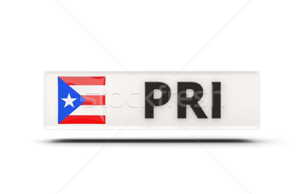 Vierkante icon vlag Puerto Rico iso code Stockfoto © MikhailMishchenko