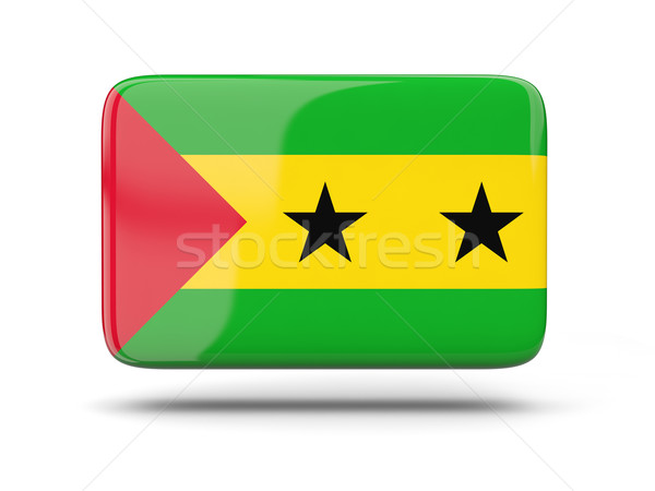 Square icon with flag of sao tome and principe Stock photo © MikhailMishchenko