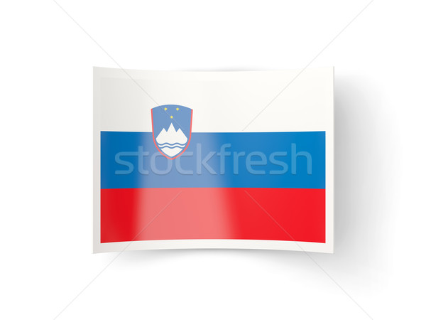 Icona bandiera Slovenia isolato bianco paese Foto d'archivio © MikhailMishchenko