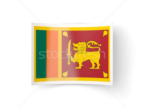 Ikona banderą Sri Lanka odizolowany biały kraju Zdjęcia stock © MikhailMishchenko