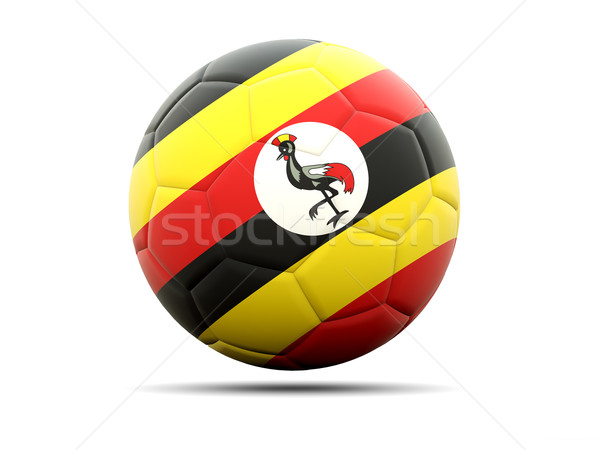 Futbol bayrak Uganda 3d illustration futbol spor Stok fotoğraf © MikhailMishchenko