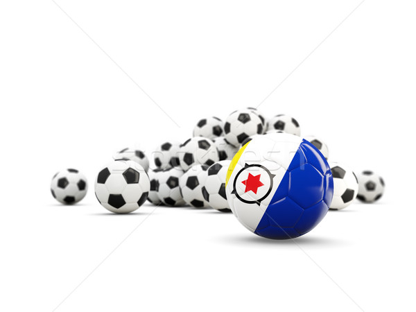 Football with flag of bonaire isolated on white Stock photo © MikhailMishchenko