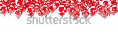 Balloons frame with flag of peru Stock photo © MikhailMishchenko