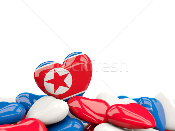 Heart with flag of korea north Stock photo © MikhailMishchenko