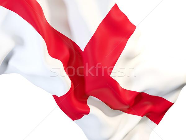 Banderą Anglii 3d ilustracji fali Zdjęcia stock © MikhailMishchenko