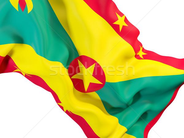 Integet zászló Grenada közelkép 3d illusztráció utazás Stock fotó © MikhailMishchenko