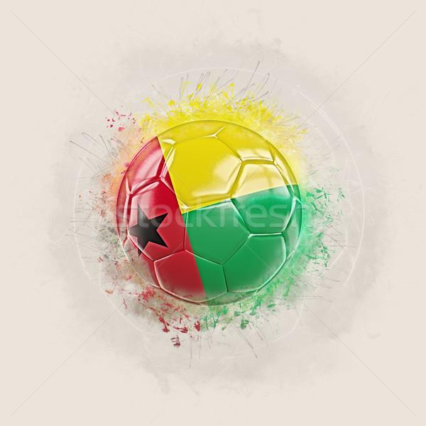Grunge voetbal vlag Guinea 3d illustration wereld Stockfoto © MikhailMishchenko