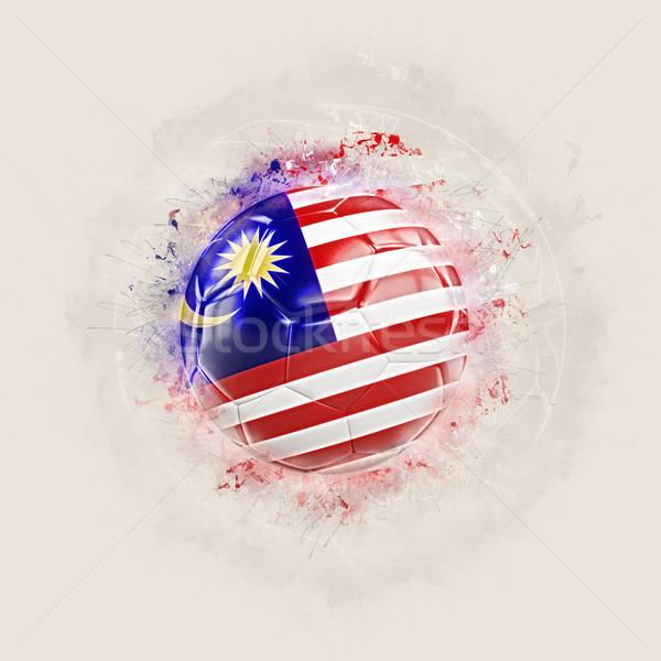 Grunge futball zászló Malajzia 3d illusztráció terv Stock fotó © MikhailMishchenko