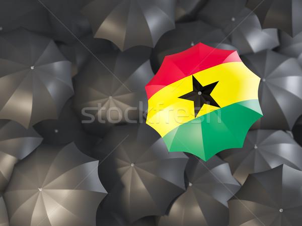 зонтик флаг Гана Top черный Сток-фото © MikhailMishchenko