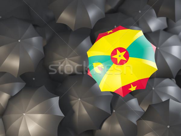 Paraguas bandera Granada superior negro paraguas Foto stock © MikhailMishchenko