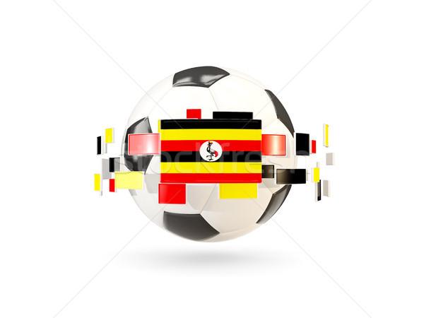 футбольным мячом линия флагами флаг Уганда Сток-фото © MikhailMishchenko