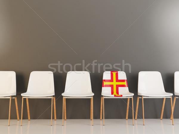 Chair with flag of guernsey Stock photo © MikhailMishchenko