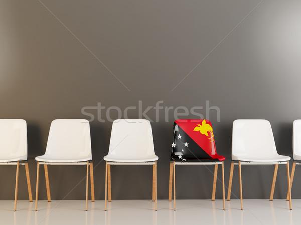 椅子 フラグ パプアニューギニアの 白 チェア ストックフォト © MikhailMishchenko