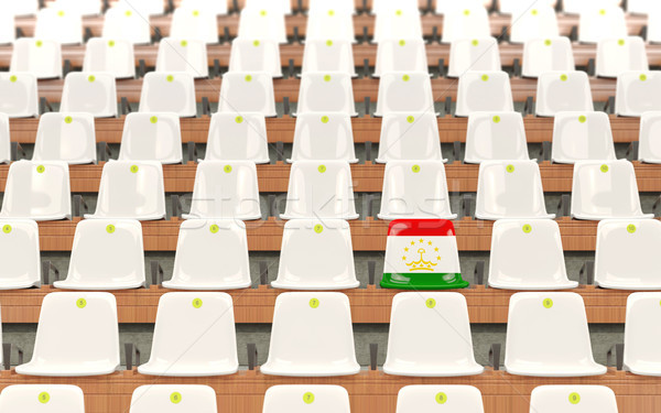 Stadium seat with flag of tajikistan Stock photo © MikhailMishchenko