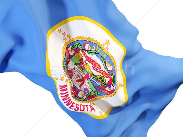 Minnesota zászló közelkép Egyesült Államok helyi zászlók Stock fotó © MikhailMishchenko