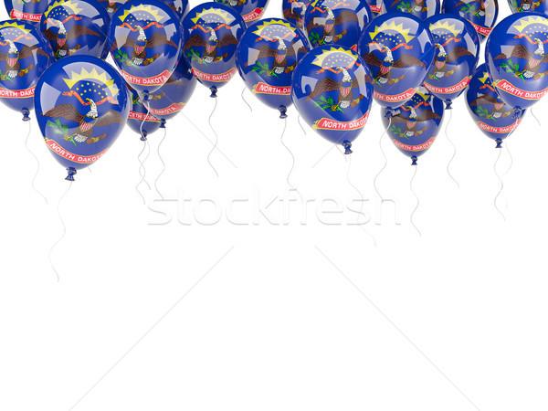 Balonlar çerçeve bayrak Kuzey Dakota Amerika Birleşik Devletleri yerel Stok fotoğraf © MikhailMishchenko