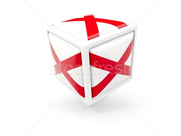 Алабама флаг куб икона Соединенные Штаты местный Сток-фото © MikhailMishchenko