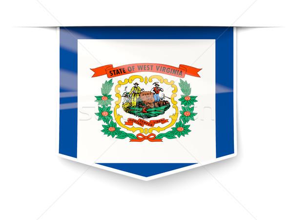Nyugat-Virginia zászló tér címke árnyék Egyesült Államok Stock fotó © MikhailMishchenko