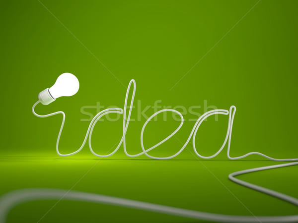 Word idea with light bulb Stock photo © MikhailMishchenko