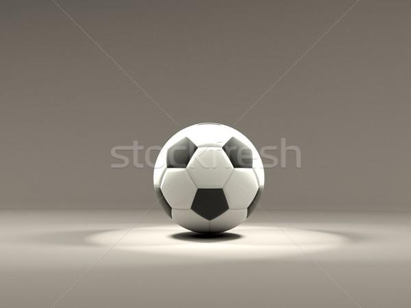 ストックフォト: サッカー · 光 · グレー · チーム · 白 · 再生