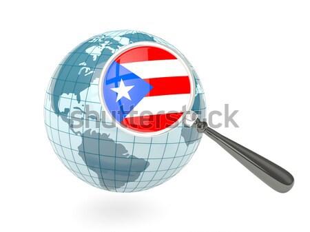 Stok fotoğraf: Bayrak · Panama · mavi · dünya · yalıtılmış