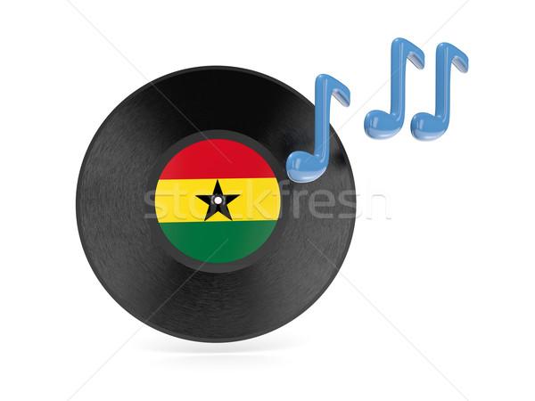 виниловых диск флаг Гана изолированный белый Сток-фото © MikhailMishchenko
