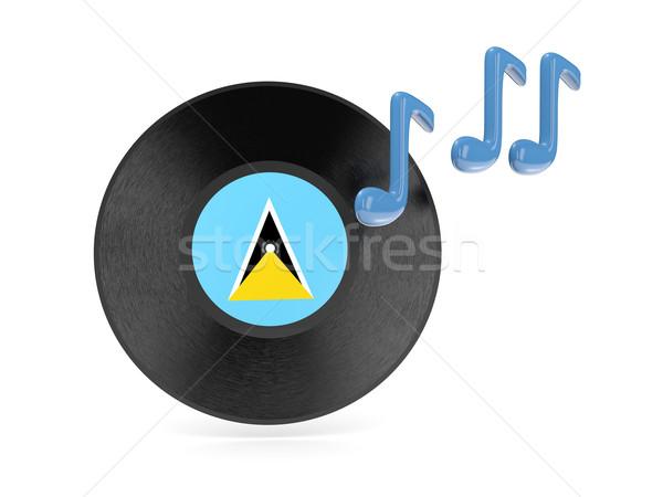 Vinyl schijf vlag geïsoleerd witte Stockfoto © MikhailMishchenko