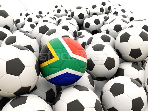 Voetbal vlag South Africa regelmatig zomer Stockfoto © MikhailMishchenko