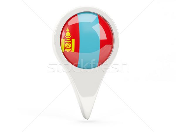 Zászló ikon Mongólia izolált fehér térkép Stock fotó © MikhailMishchenko
