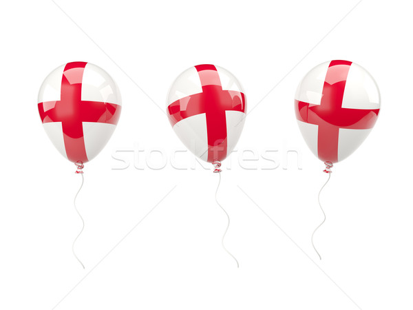Air balloons with flag of england Stock photo © MikhailMishchenko