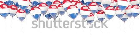 Léggömb keret zászló Panama izolált fehér Stock fotó © MikhailMishchenko