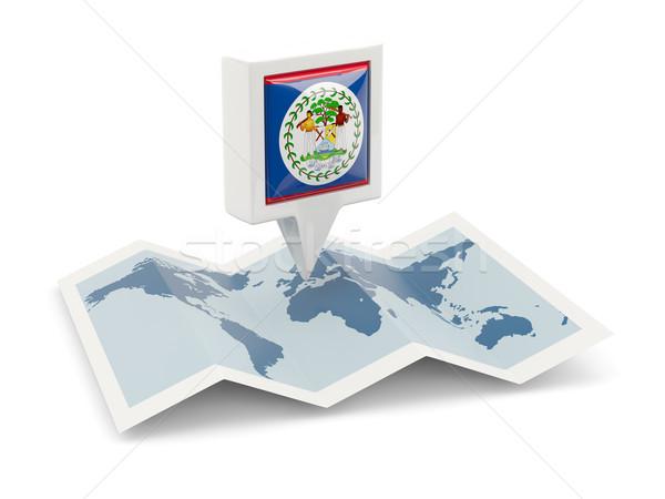 Tér tő zászló Belize térkép utazás Stock fotó © MikhailMishchenko