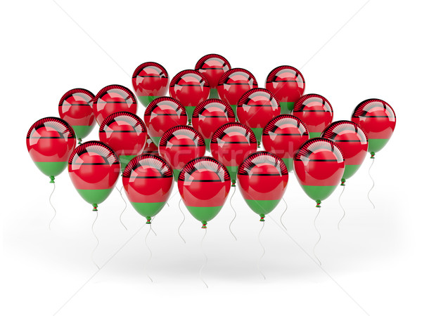 Balloons with flag of malawi Stock photo © MikhailMishchenko