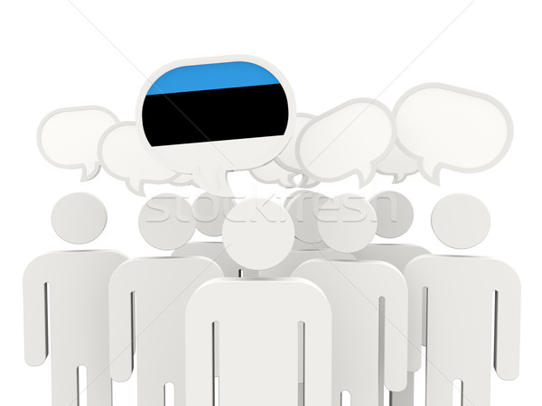 People with flag of estonia Stock photo © MikhailMishchenko